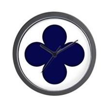 Clover Leaf Wall Clock