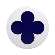 Clover Leaf Ornament (Round)