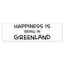 Happiness is Greenland Bumper Bumper Sticker