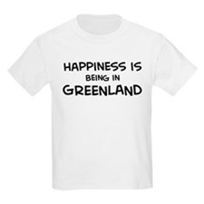 Happiness is Greenland Kids T-Shirt