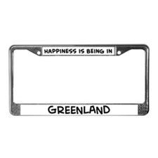 Happiness is Greenland License Plate Frame
