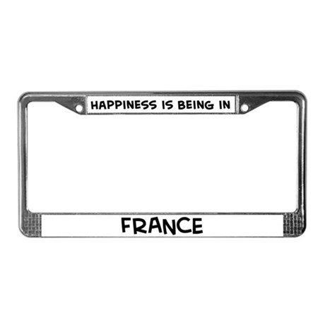 Happiness is France License Plate Frame