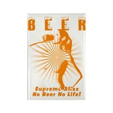 Love Beer Rectangle Magnet