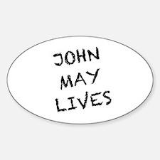 V: John May Lives! Sticker (Oval)