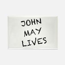 V: John May Lives! Rectangle Magnet