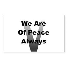 V Of Peace Decal