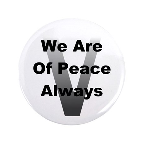 "V Of Peace 3.5"" Button"