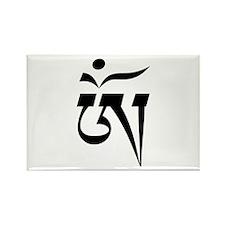 Aum in Tibetan Script Rectangle Magnet