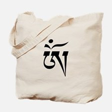 Aum in Tibetan Script Tote Bag