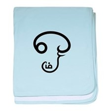 Aum Tamil Script baby blanket