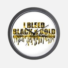 Bleed Black & Gold Wall Clock