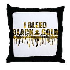 Bleed Black & Gold Throw Pillow