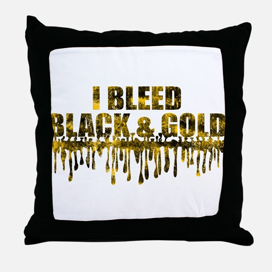 Bleed Black & Gold Throw Pillow