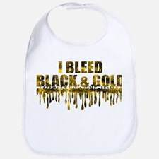 Bleed Black & Gold Bib