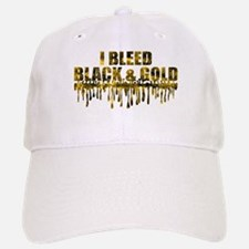 Bleed Black & Gold Baseball Baseball Cap