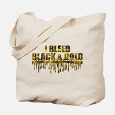 Bleed Black & Gold Tote Bag