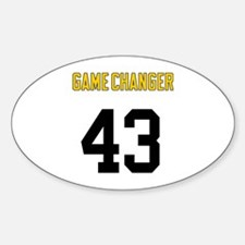 Game Changer 43 Sticker (Oval)