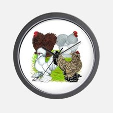 Feather-legged Bantams Wall Clock