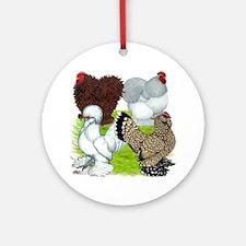 Feather-legged Bantams Ornament (Round)