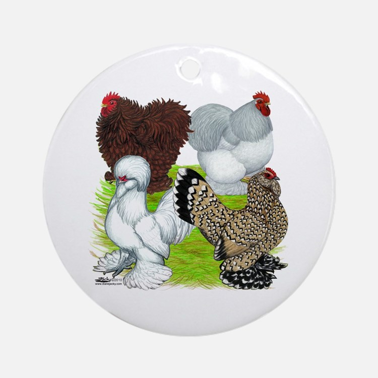 Feather-legged Bantams Ornament (Round)