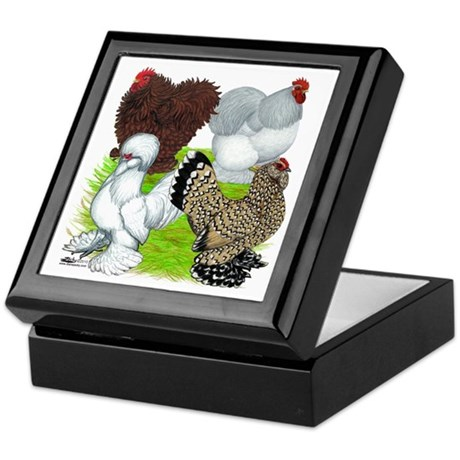 Feather-legged Bantams Keepsake Box