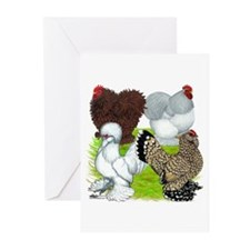 Feather-legged Bantams Greeting Cards (Pk of 10)