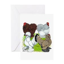 Feather-legged Bantams Greeting Card