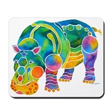 Best HIPPO in Many Colors Mousepad
