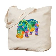 Best HIPPO in Many Colors Tote Bag