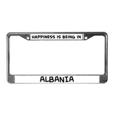 Happiness is Albania License Plate Frame