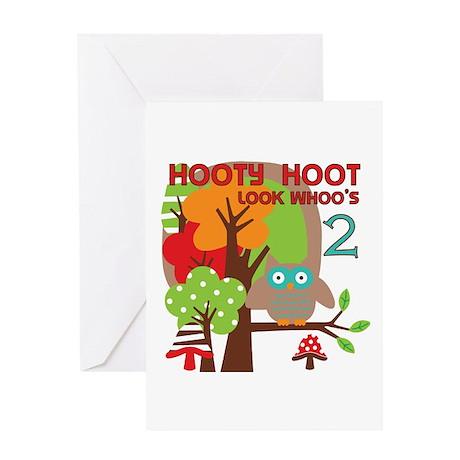 Hooty Hoot 2nd Birthday Greeting Card