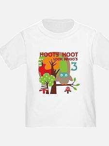 Hooty Hoot 3rd Birthday T