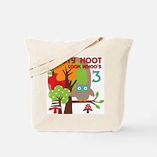 Hooty Hoot 3rd Birthday Tote Bag