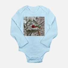 feeding cardinal Long Sleeve Infant Bodysuit