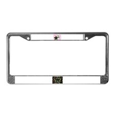 PAINTED MOON AND STAR License Plate Frame