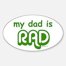 Cute Rad Sticker (Oval)