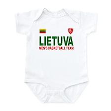 Lietuva Men's Basketball Infant Bodysuit