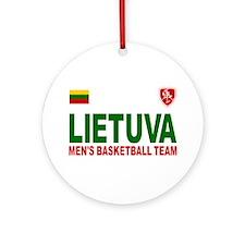 Lietuva Men's Basketball Ornament (Round)