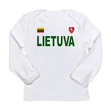 Lietuva Olympic Style Long Sleeve Infant T-Shirt