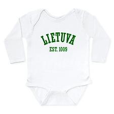 Classic Lietuva Est. 1009 Long Sleeve Infant Bodys