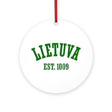 Classic Lietuva Est. 1009 Ornament (Round)