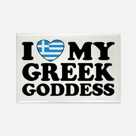 I love My Greek Goddess Rectangle Magnet