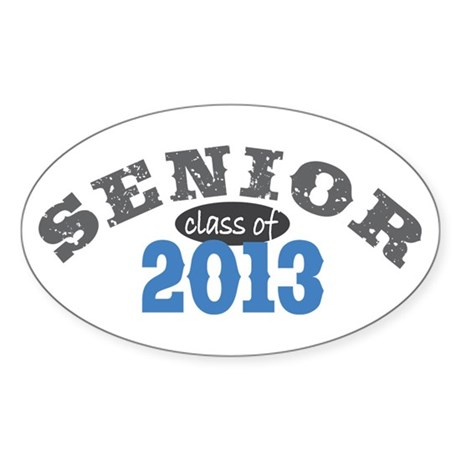 Senior Class of 2013 Sticker (Oval 50 pk)