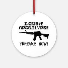 Zombie Apocalypse Prepare Now Ornament (Round)