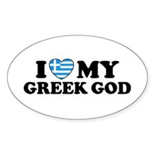 I Love My Greek God Decal