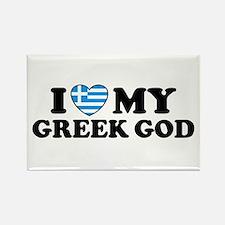 I Love My Greek God Rectangle Magnet