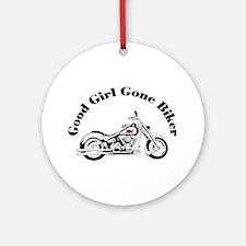 Good Girl Biker I Ornament (Round)