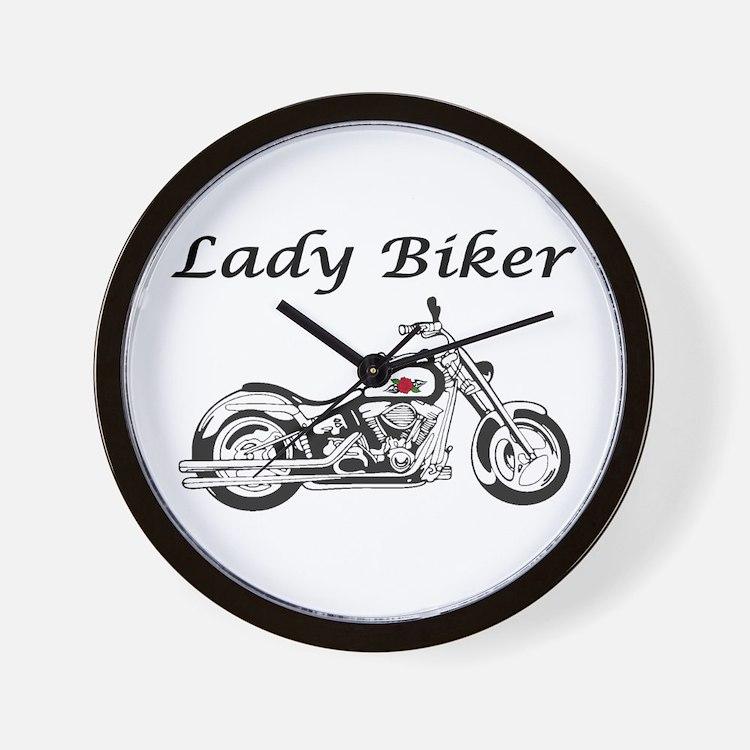 Lady Biker I Wall Clock