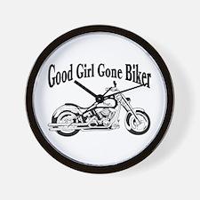 Good Girl Biker II Wall Clock