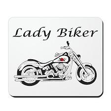 Lady Biker I Mousepad
